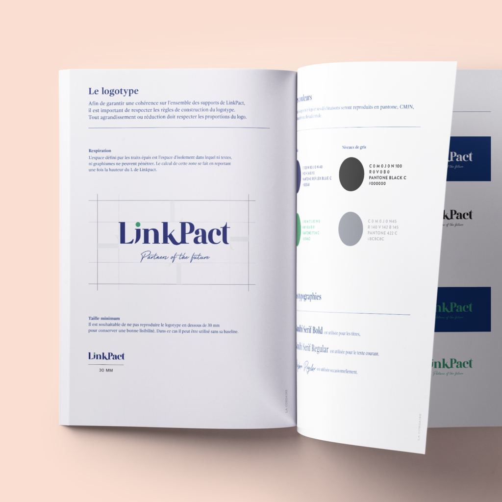 Charte graphique, identité de LinkPact